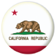 California State Flag 58mm Button Badge